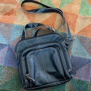 Like new black leather Tignanello crossbody